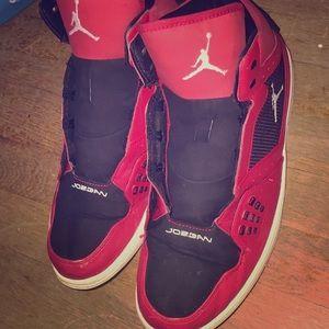 Jordan Flight 1s Red/White/Black Size 12. Men's